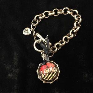 Betsey Johnson Gold Tone Link Chain Bracelet